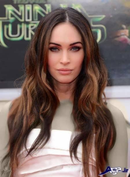 مدل رنگ مو نسکافه ای زیبا