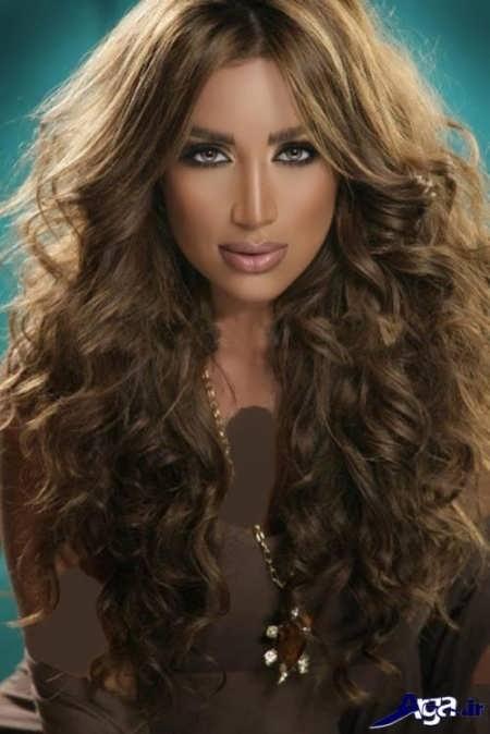 رنگ موی نسکافه ای برای مو های فر