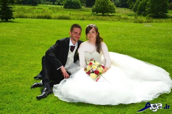 فیگور عکس از عروس و داماد د رطبیعت