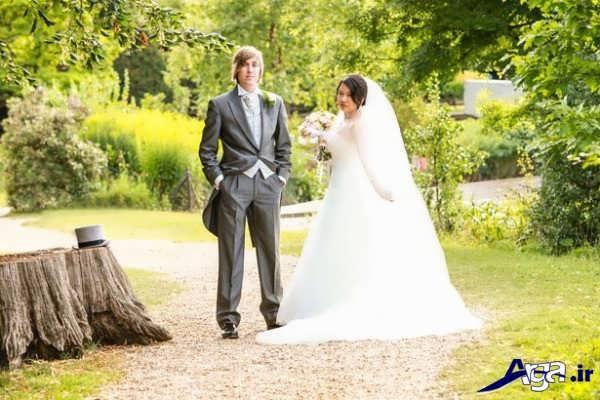 عکس عروس و داماد در طبیعت