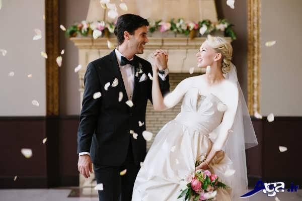 مدل عکس زیبای عروس و داماد