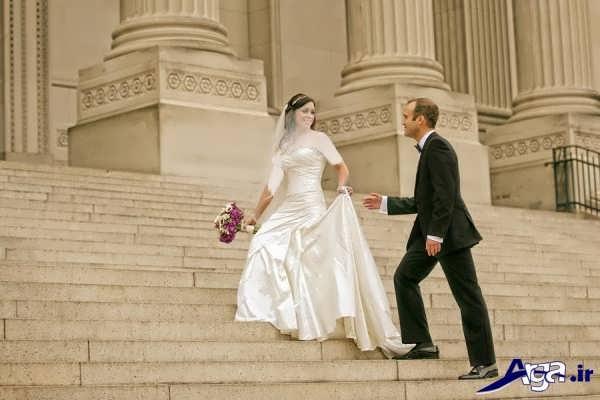 ژست برای عکاسی از عروس و داماد