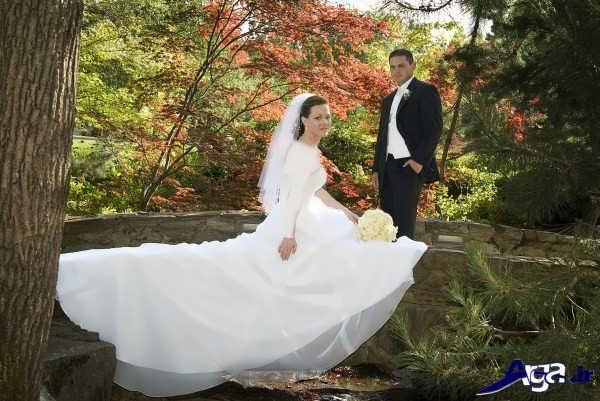 عکس زیبای عروس و داماد د رباغ