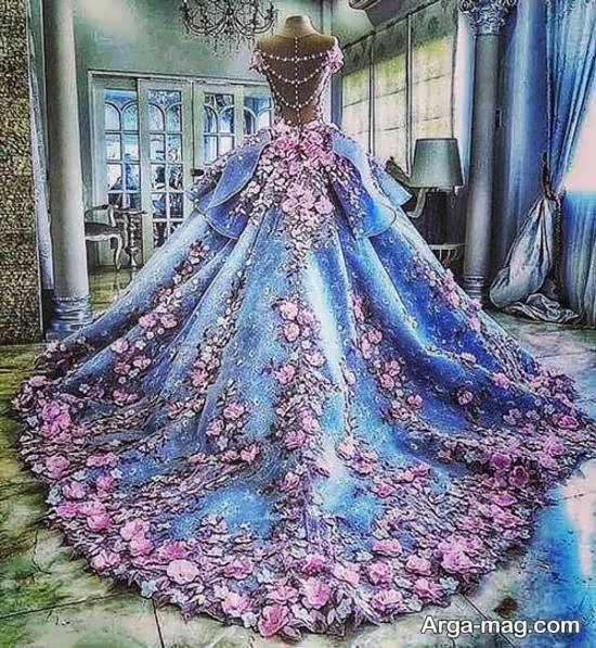 مدلی از لباس پرنسسی بلند