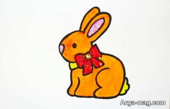 رنگ آمیزی ساده خرگوش