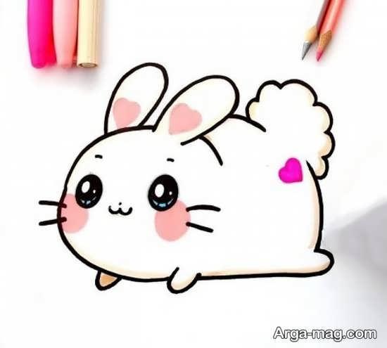 رنگ آمیزی جذاب خرگوش