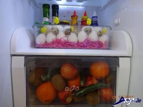 چیدمان داخل یخچال عروس جدید