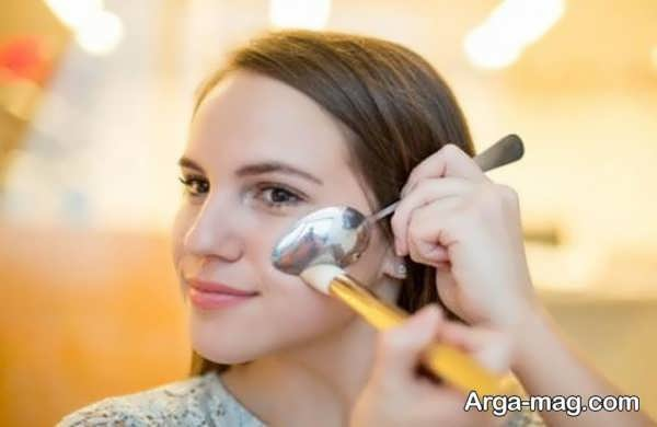 آموزش آرایش صورت با قاشق