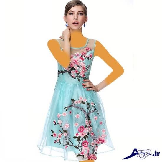 مدل لباس مجلسی حریر دخترانه