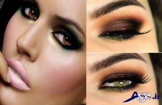 مدل آرایش ابرو و آرایش چشم
