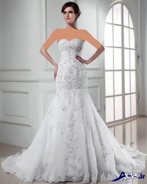 مدل لباس عروس دکلته