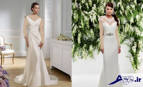 لباس عروس اروپایی شیک و مدرن