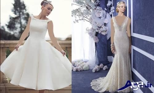 لباس عروس کوتاه و بلند اروپایی