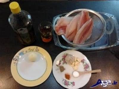 مواد لازم برای تهیه ماهی تیلاپیا