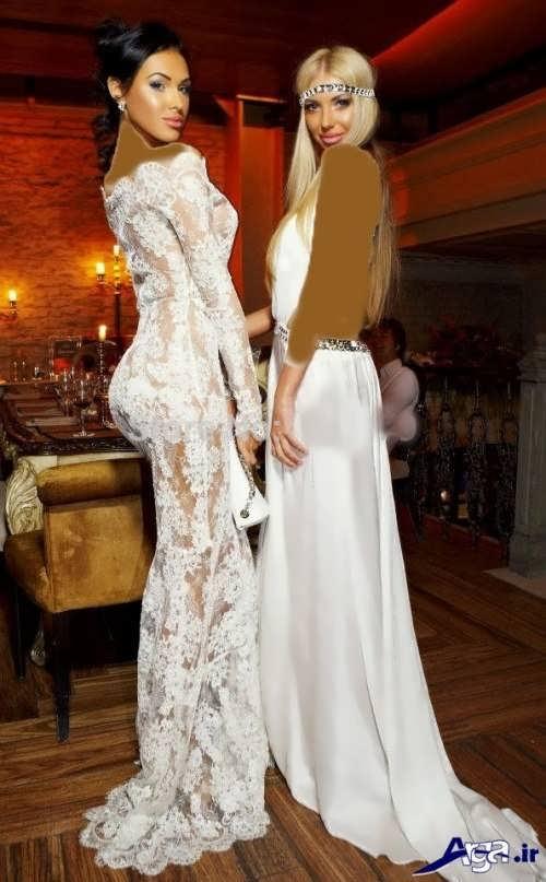 مدل لباس شب زنانه سفید