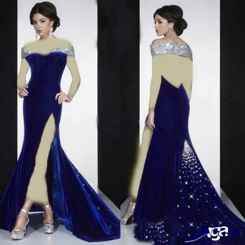 لباس شب زیبا دنباله دار
