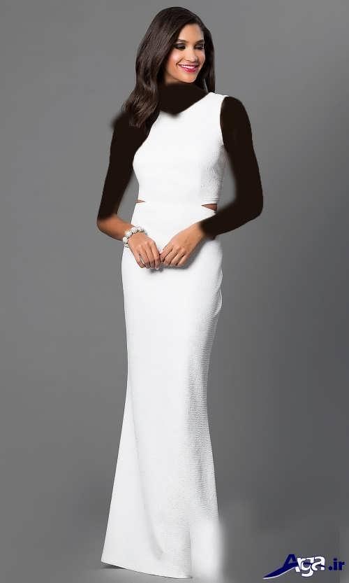 انواع مدل لباس شب سفید