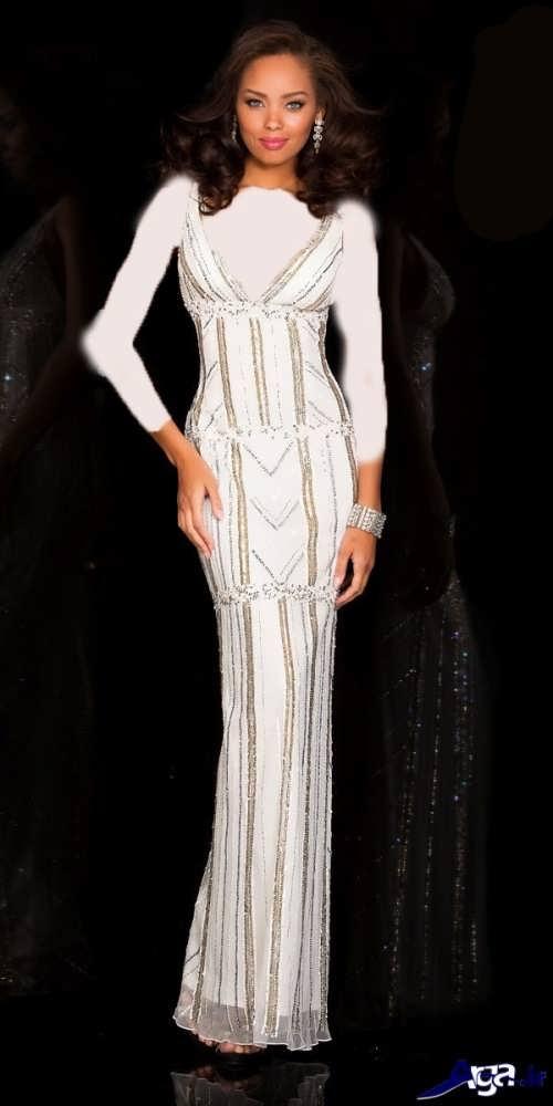 مدل لباس شب سفید و زیبا
