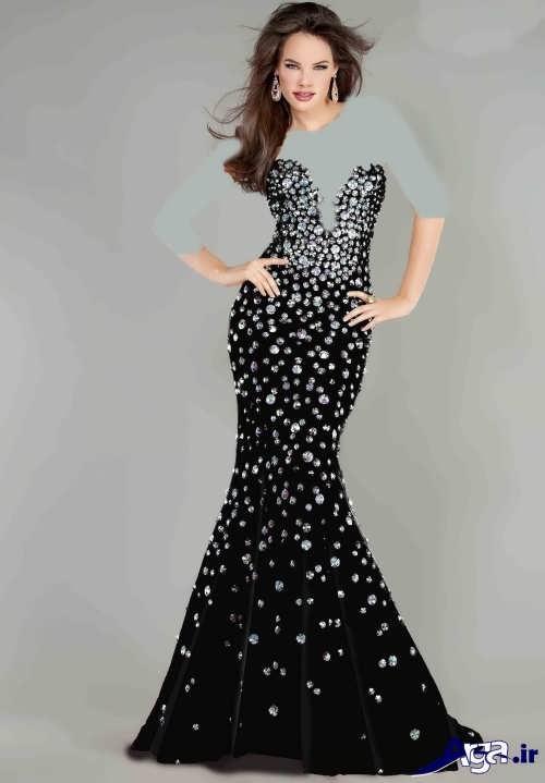 مدل لباس شب دکلته