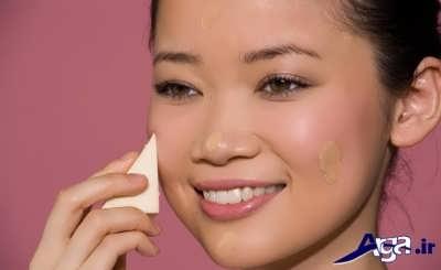 استفاده از پد های ارایشی نرم برای جوان ماندن پوست