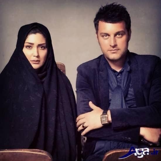 باربد بابایی و همسرش