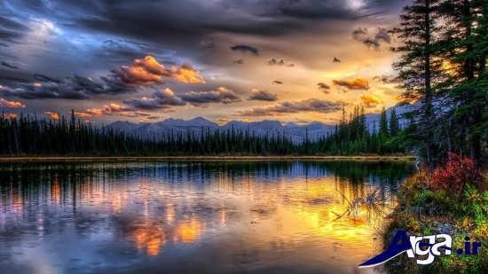 مناظر زیبا و دریاچه ها