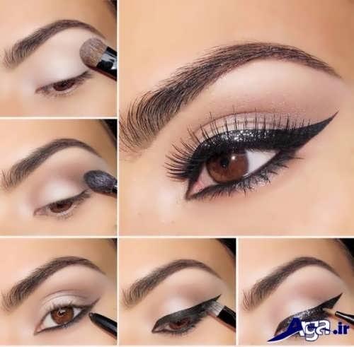 آموزش تصویری آرایش چشم عروس