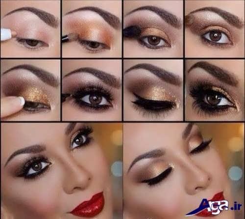 آموزش صحیح آرایش چشم عروس