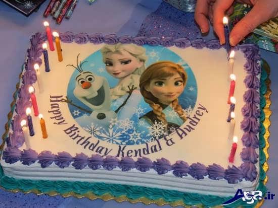 مدل کیک تولد با تم فروزن