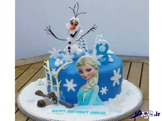 کیک تولد پرنسس یخی