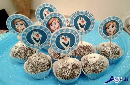 تزیین شیرینی جشن تولد با تم پرنسس یخی