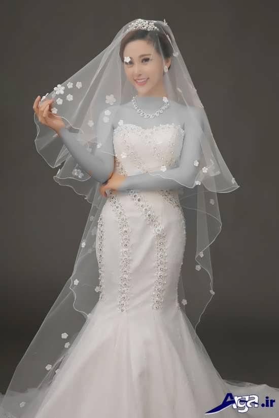 مدل تور عروس دولایه
