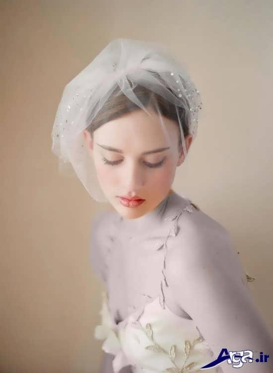 تور ساده و اروپایی عروس