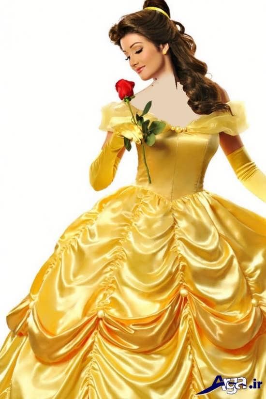 عکس های سیندرلا در لباس زرد