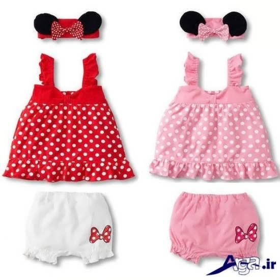 لباس نوزادی دخترانه با شورت
