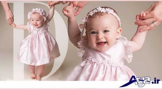 پیراهن نوزاد دختر زیبا
