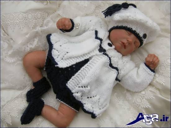 لباس گرم زمستانی نوزاد دختر