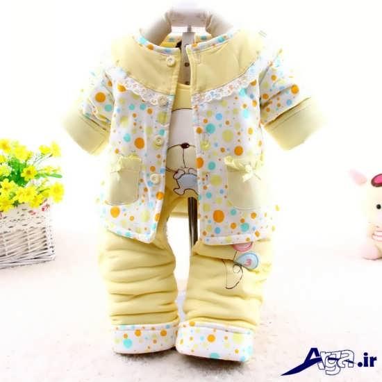 لباس زمستانی زرد نوزاد دختر