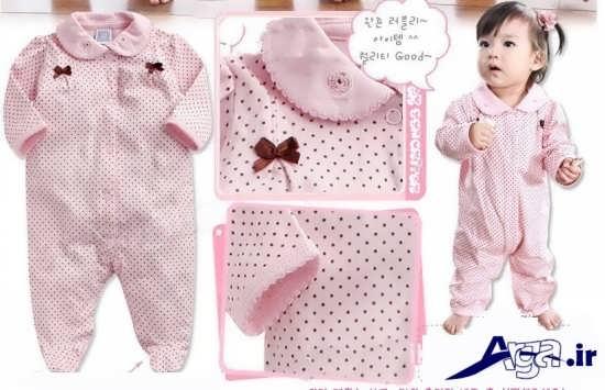 لباس نوزادی دخترانه سرهمی