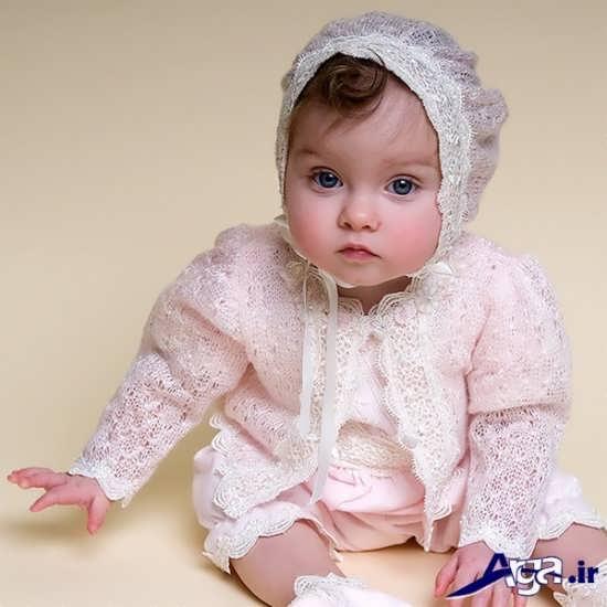 لباس نوزاد دختر با کلاه