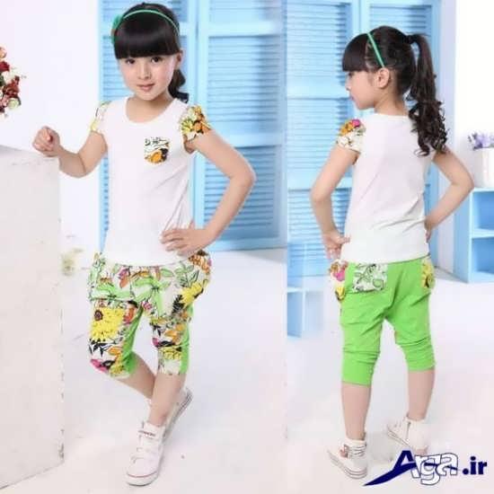 لباس بچه گانه سبز دخترانه