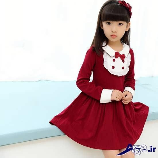 لباس بچه گانه قرمز دخترانه