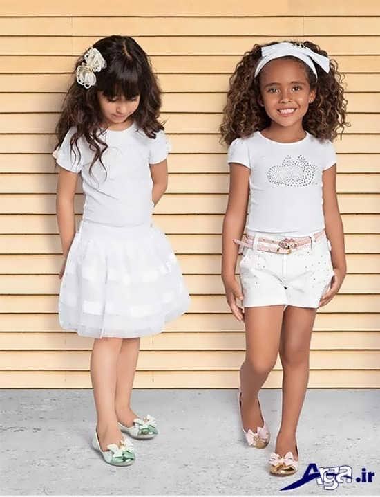 لباس بچه گانه دخترانه مجلسی سفید