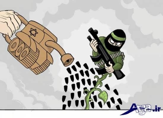 کاریکاتورهای اعتراضی داعش