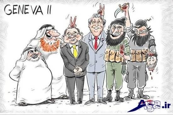 کاریکاریکاتور اعتراضی اقدامات داعش