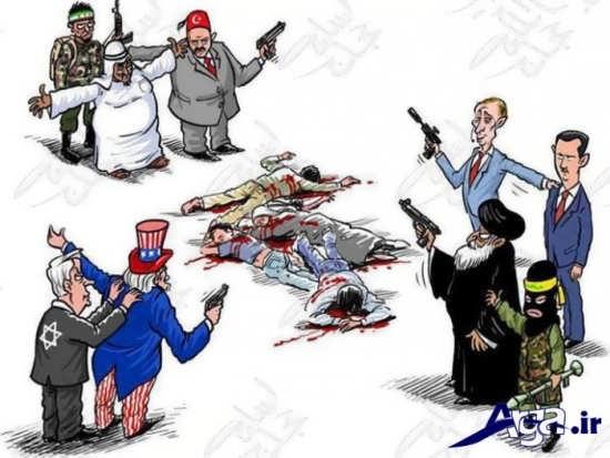 کاریکاتور قتل های جمعی داعش