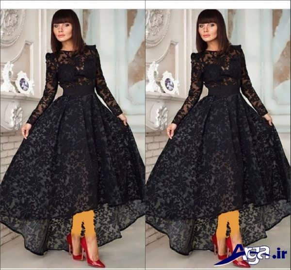 لباس مجلسی دانتل بلند دخترانه