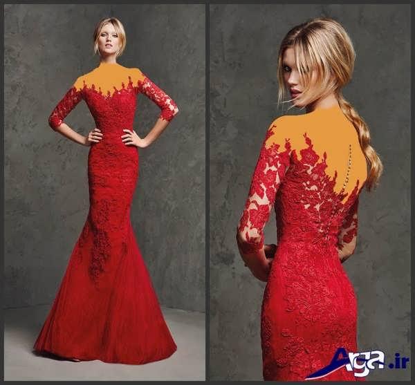 لباس مجلسی دانتل زیبا مدل ماهی