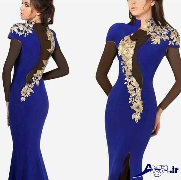لباس مجلسی دانتل آبی