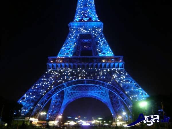 عکس های برج ایفل نورپردازی آبی